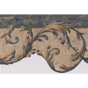 Retro Art Damask Vines Abstract Wallpaper - Multicoloured