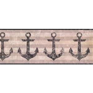 York Wallcoverings Vintage Ancor Striped Wallpaper - Black/Brown
