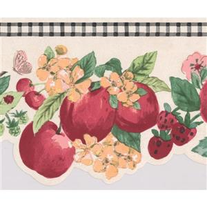 York Wallcoverings Fruits and Flowers Wallpaper Border - Pink/Yellow