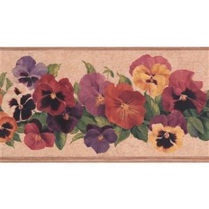 York Wallcoverings Floral Wallpaper Border - Multicoloured