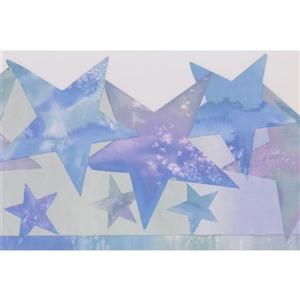 Retro Art Stars Abstract Wallpaper Border - Multicoloured