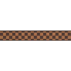 York Wallcoverings Checkered Abstract Wallpaper Border - Brown