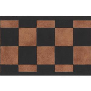 York Wallcoverings Checkered Abstract Wallpaper Border - Green/Brown
