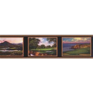 York Wallcoverings Scenic Views on Picture Frames Wallpaper Border - Green