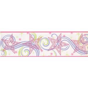 York Wallcoverings Abstract Wallpaper Border - Multicoloured