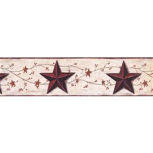 York Wallcoverings Vintage Star and Berries Wallpaper Border