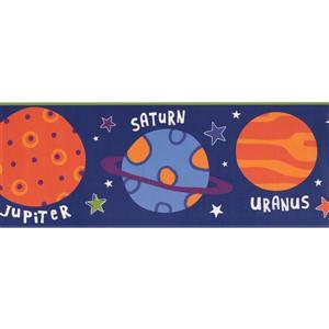 York Wallcoverings Kids Solar System Wallpaper Border - Blue