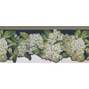 York Wallcoverings Garden Flowers Wallpaper Border - White