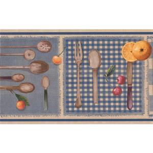 Retro Art Kitchen Wallpaper Border - Multicoloured