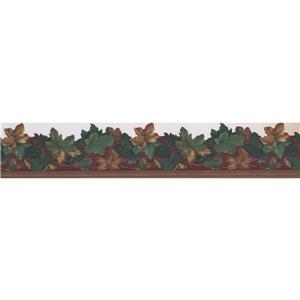 Retro Art Floral Wallpaper Border Roll - Multicoloured