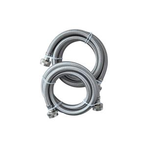 CB Performance Advantage UV Hot-Cold Washing Machine Connector Kit-  6 FT  - 16 mm thick - Stainless Steel Braided Hose.