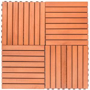 Vifah Patio 8-Slat Eucalyptus Deck Tile - 11-in - Wood - 10 pcs