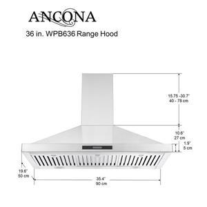 Ancona 36-in 620 CFM Wall-Mounted Range Hood (Stainless Steel)