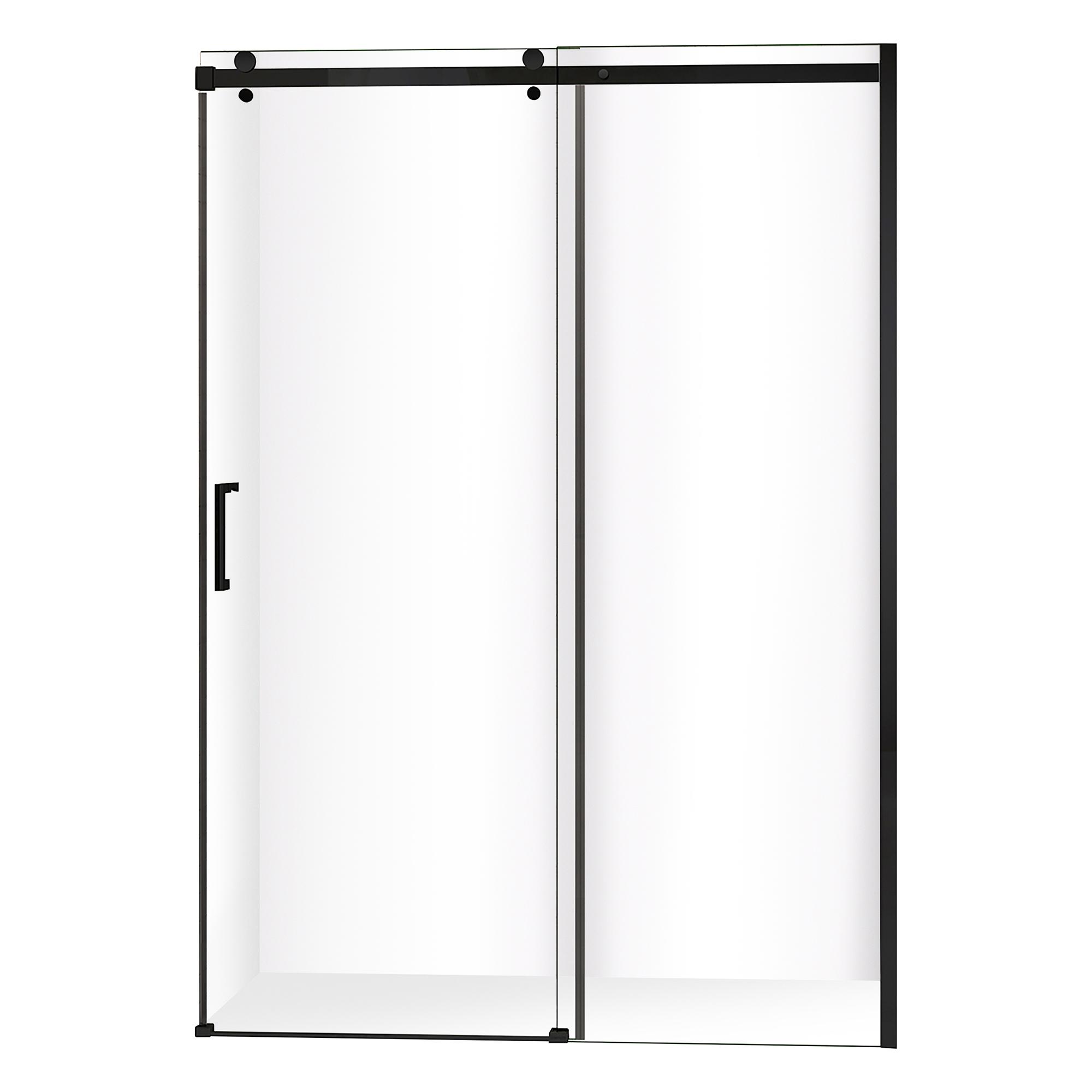Jade Bath Quartz Sliding Shower Door Matte Black Hardware 60 X78 75