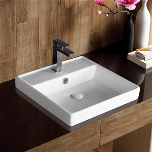 "Jade Bath Harland Drop-In Sink Ceramic - 18.30""x18.50"""