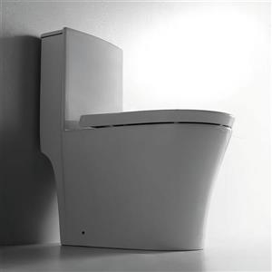 Jade Bath Isabelle White 1-Piece Dual-Flush Standard Height Elongated Toilet (1.28 GPF)