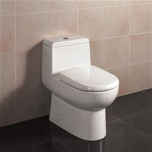 Jade Bath Acacia 1-Piece Dual-Flush Standard Height Elongated Toilet (1.28 GPF)