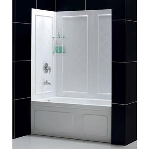 dreamline q-wall tub backwall panels - 32-in x 60-in