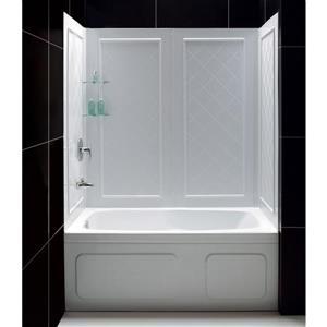 DreamLine Q-Wall Tub Backwall Panels - 32-in x 60-in - White