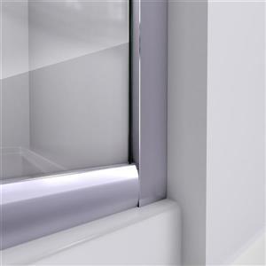 DreamLine Prime Sliding Shower Enclosure - 38-in - Acrylic - White