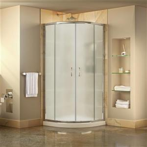 DreamLine Prime Shower Base Kit - 33-in - Acrylic - White