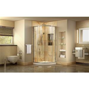 DreamLine Prime Shower Base Kit - 36-in - Acrylic - White