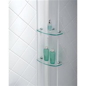 DreamLine QWALL-5 Shower Base Kit - 36-in - Acrylic - White