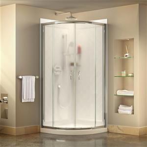 DreamLine Prime Shower Base Kit - 36-in - Acrylic - White