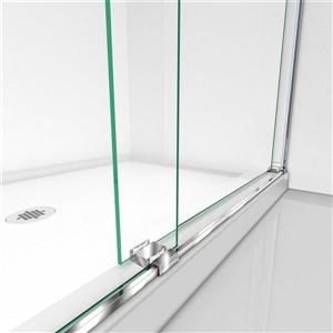 DreamLine Essence Shower Door - 60-in x 60-in - Glass - Chrome