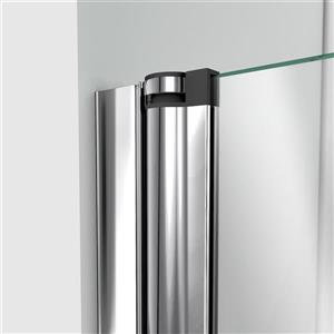 DreamLine Aqua Swing Shower Door - 34-in x 58-in - Glass - Chrome