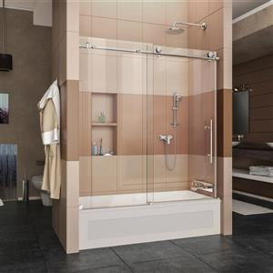 DreamLine Enigma-X Shower Door - 59-in x 62-in - Glass - Stainless steel