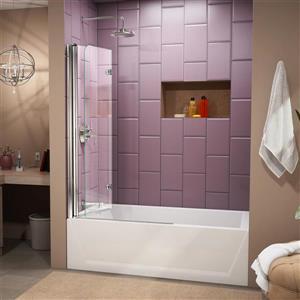 DreamLine Aqua Fold Shower Door - 36-in x 58-in - Glass - Chrome