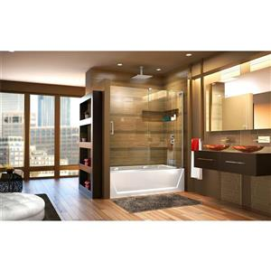 DreamLine Mirage-X Shower Door - 60-in - Glass - Chrome