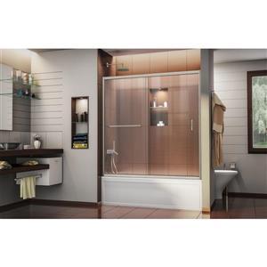 DreamLine Infinity-Z Shower Door - 60-in x 58-in - Glass - Nickel