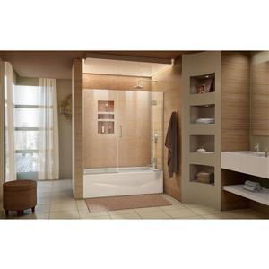 DreamLine Unidoor-X Shower Door - 58.5-in x 58-in - Glass - Nickel