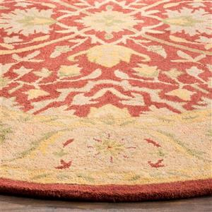 Antiquity Floral Rug - 3' x 3' - Rust
