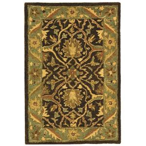Antiquity Floral Rug - 2' x 4' - Brown/Green