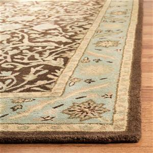Antiquity Floral Rug - 2' x 8' - Brown/Green