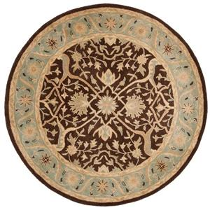 Antiquity Floral Rug - 3' x 3' - Brown/Green