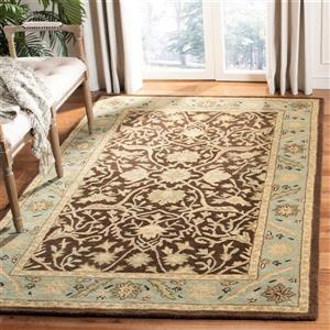 Antiquity Floral Rug - 3' x 5' - Brown/Green