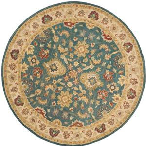 Antiquity Floral Rug - 3' x 3' - Blue/Beige
