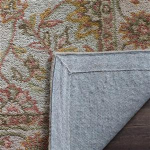 Antiquity Floral Rug - 3' x 3' - Ivory/Light Green