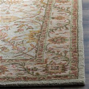 Antiquity Floral Rug - 2' x 8' - Ivory/Light Green
