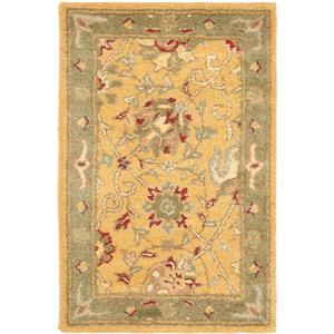 Antiquity Floral Rug - 2' x 4' - Gold