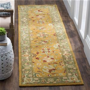 Antiquity Floral Rug - 2' x 8' - Gold