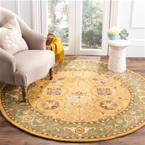 Antiquity Floral Rug - 3' x 3' - Gold