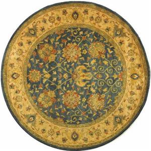 Antiquity Floral Rug - 3' x 3' - Blue/Gold