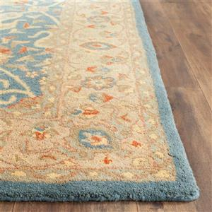 Antiquity Floral Rug - 2' x 4' - Blue/Gold