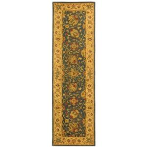 Antiquity Floral Rug - 2' x 8' - Blue/Gold