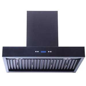 Turin 36-in Wall-Mounted Range Hood (Black)